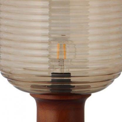 lampa stołowa z bursztynowego szkła nowoczesna