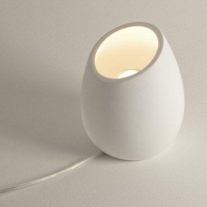 lampa stołowa z gipsu do pomalowania