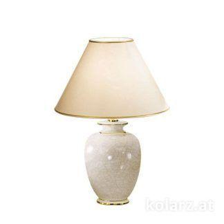 lampa stołowa z kremową podstawą klasyczna