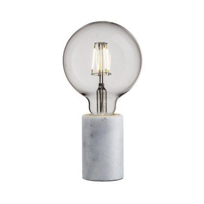 lampa stołowa z marmuru bez klosza nowoczesna