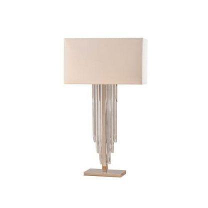 lampa stołowa z podstawą z kryształowego szkła