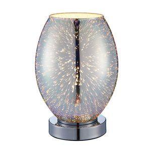 Lampa stołowa ze szkła holograficznego do sypialni
