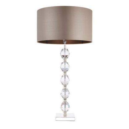 lampa stołowa ze szkła kryształowego elegancka