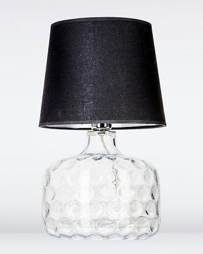 lampa stołowa ze szkła w formie wcisków - czarna