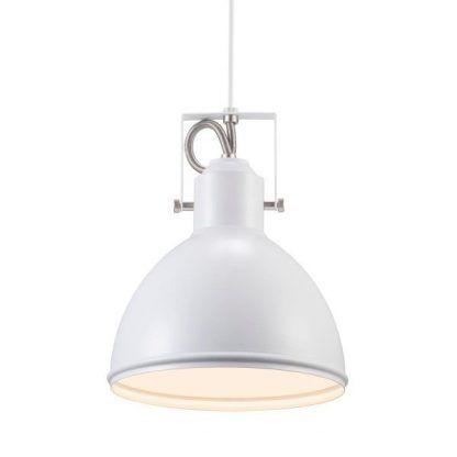 Lampa styl skandynawski z metalowym kloszem