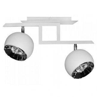 lampa sufitowa białe kule na dwie żarówki do pokoju