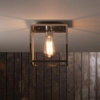 lampa sufitowa do drewnianych paneli - retro żarówka edisona