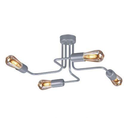 lampa sufitowa do przedpokoju szara metalowa