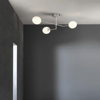 lampa sufitowa do szarej łazienki nowoczesna