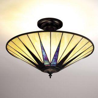 lampa sufitowa motyw gwiazdy żółty