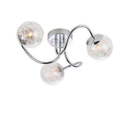 lampa sufitowa nowoczesna z 3 żarówkami - szklane kule