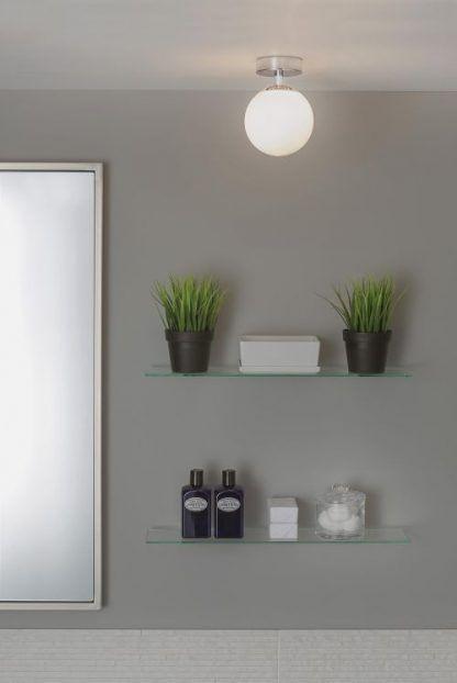 lampa sufitowa okrągła kula do łazienki nad lustro