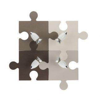 lampa sufitowa puzzle odcienie brązu beżu