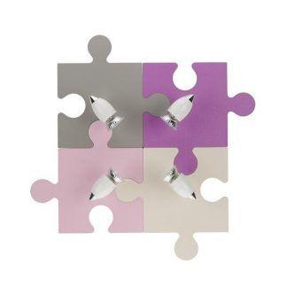 lampa sufitowa puzzle odcienie różu