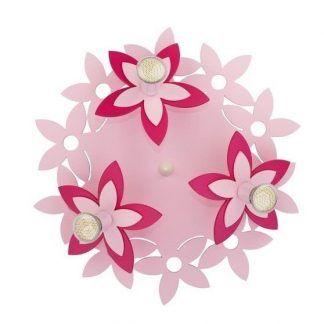 lampa sufitowa różowe kwiaty dziecięca