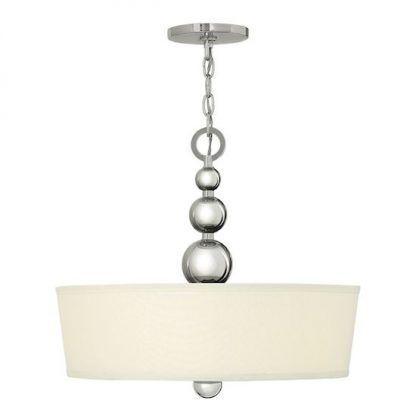 lampa sufitowa srebrna - kule - abażur