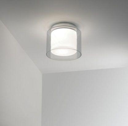lampa sufitowa szklana okrągła z obwódką