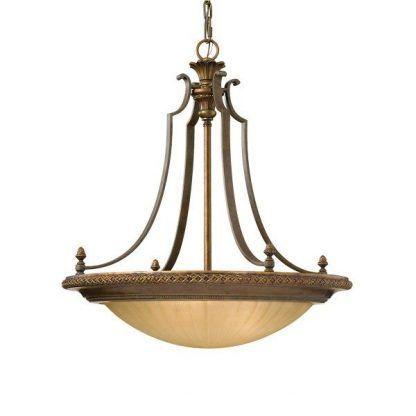 lampa sufitowa w jasno brązowym kolorze - klasyczny salon