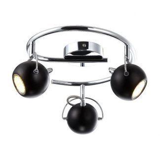 lampa sufitowa z 3 czarnymi kulami - do małego nowoczesnego pokoju