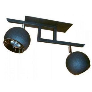 lampa sufitowa z dwoma kulkami grafitowymi