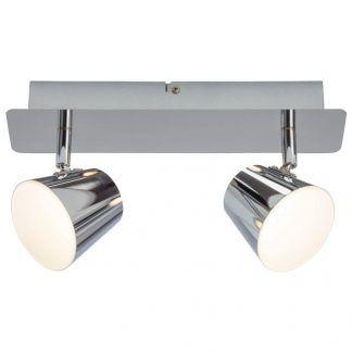 lampa sufitowa z dwoma reflektorkami do korytarza