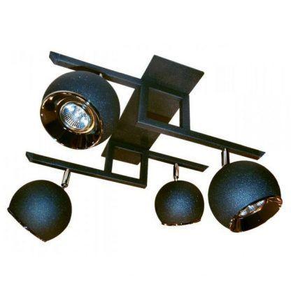 lampa sufitowa z reflektorami w kształcie kul - niebieska