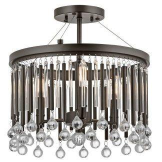 lampa sufitowa z wiszącymi kryształkami jak sople