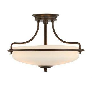 lampa sufitowa ze szklanym kloszem brązowa
