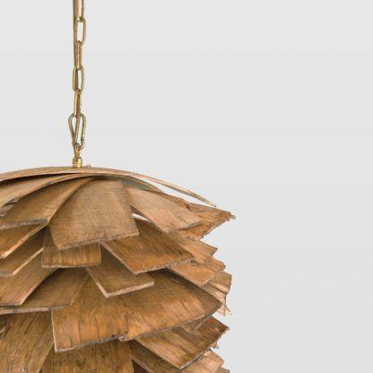 lampa szyszka na złotym łancuchu