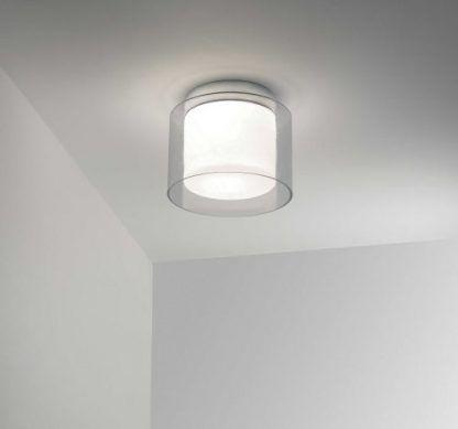 lampa w lampie - sufitowa szklana