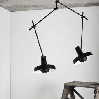 lampa sufitowa z regulacją na sufit betonowy
