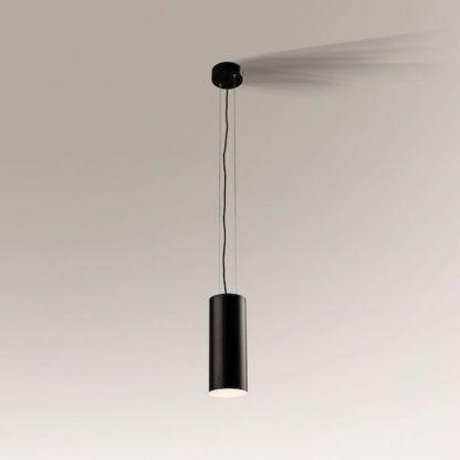 lampa wisząca czarna tuba nowoczesna