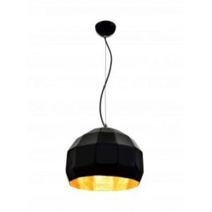 lampa wisząca czarna ze złotym środkiem