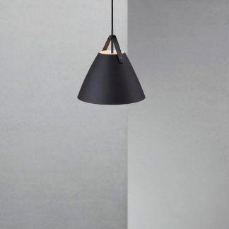 lampa wisząca czarny klosz długie zawieszenie