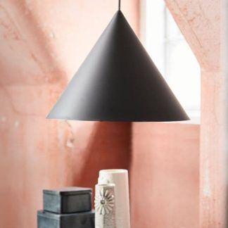 lampa wisząca czarny stożek styl nowoczesny