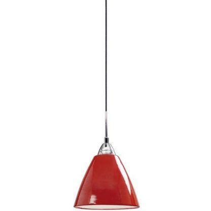 lampa wisząca czerwony połysk nowoczesna