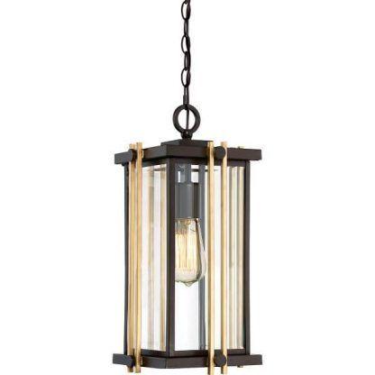 Lampa wisząca do kuchni z prostokątnym kloszem