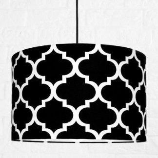 lampa wisząca do pokoju chłopca - czarna z białymi wzorami