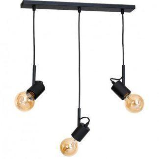 lampa wisząca do salonu czarne oprawki