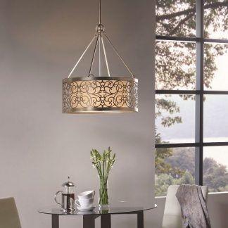 lampa wisząca do sypialni nad stół z krzesłami