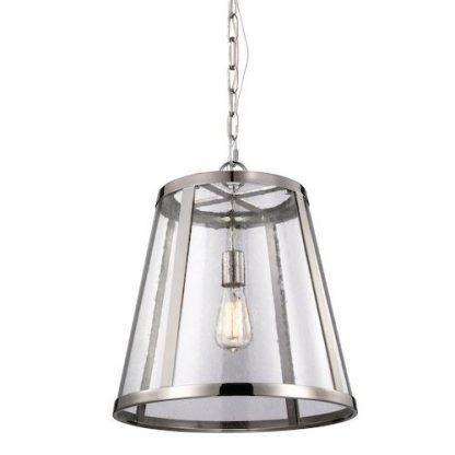 lampa wiszaca do wejścia do domu lub na korytarz - srebrna