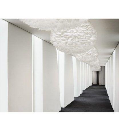 lampa wisząca eos na korytarz - biały puch