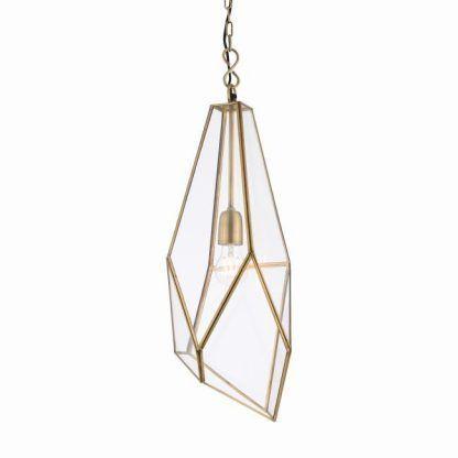 lampa wisząca geometryczna szklana złota