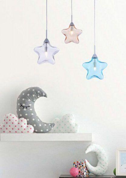 lampa wisząca gwiazdka pokój dziecięcy