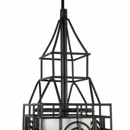 lampa wisząca kopuła budynku druciany klosz