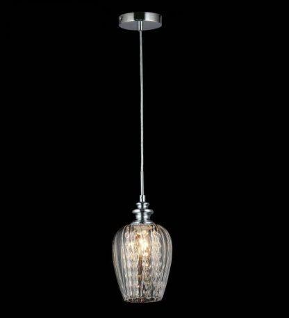 lampa wisząca kryształowa z eleganckim kloszem