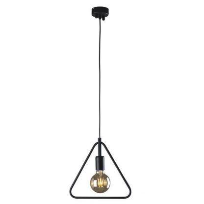 lampa wisząca metalowy trójkąt geometryczna