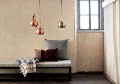 Lampa wisząca - mosiądz - kulista - Frandsen