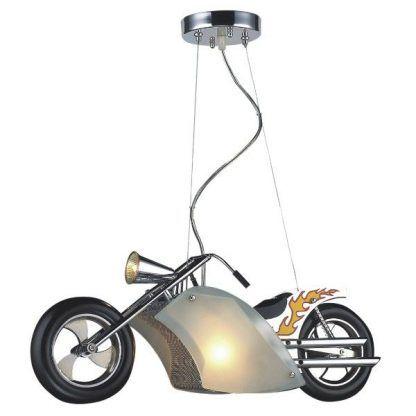 lampa wisząca motocykl pokój chłopca