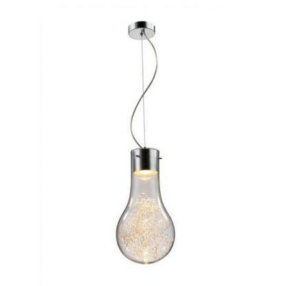 lampa wisząca na lince przypominająca żarówkę na kablu